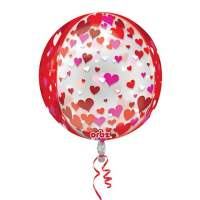 Valentines Day Mylar Balloon Floating Hearts 16 Inch delivery from Balloon Shop NYC