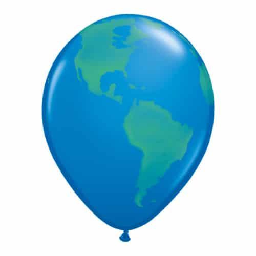 Valentines Day Mylar Balloon Globe Earth Dark Blue 11 Inch delivery from Balloon Shop NYC
