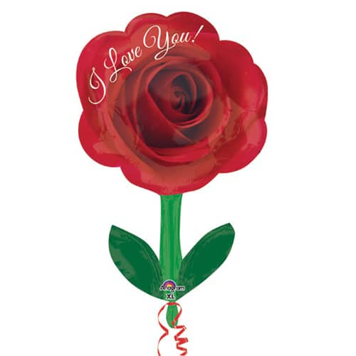 Valentines Day Mylar Balloon I Love You Rose 18 Inch delivery from Balloon Shop NYC