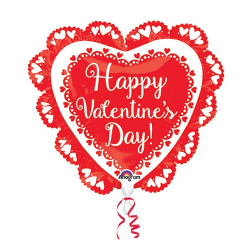 Valentines Day Mylar Balloon Intricates Dolly 23 Inch delivery from Balloon Shop NYC