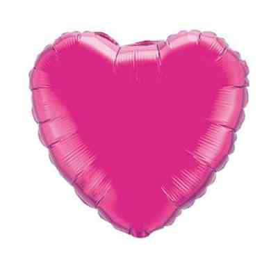 Valentines Day Mylar Balloon Magenta Heart 18 Inch delivery from Balloon Shop NYC