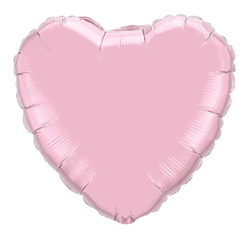 Valentines Day Balloon Pearl Pink Heart 36 inch Mylar Party Balloon from Balloon Shop NYC