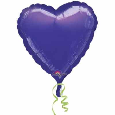 Valentines Day Mylar Balloon Purple Heart 18 Inch delivery from Balloon Shop NYC