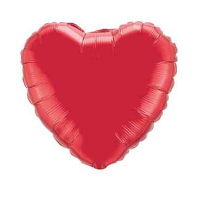 Valentines Day Mylar Balloon Ruby Red Heart 18 Inch delivery from Balloon Shop NYC