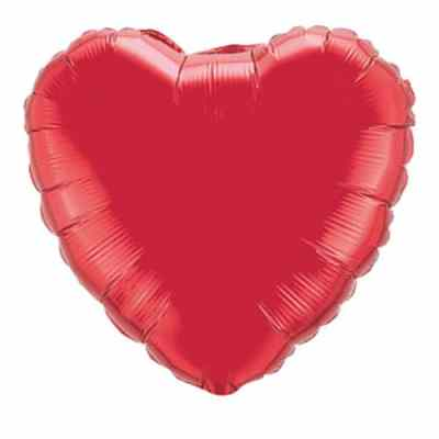 Valentines Day Balloon Ruby Red Heart 36 inch Mylar Party Balloon from Balloon Shop NYC