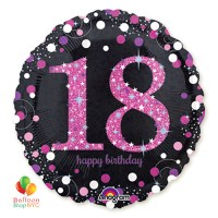 Pink Celebration 18 Holographic 18 Inch Mylar Balloon Inflated high-quality cheap balloons nyc delivery