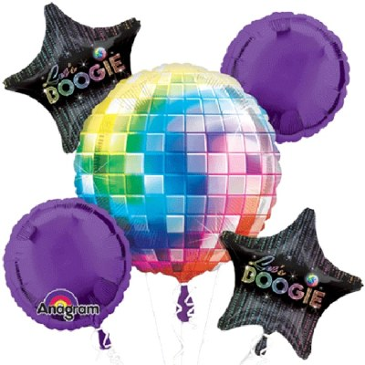 70s Disco Fever Balloons Bouquet delivery from Balloon Shop NYC