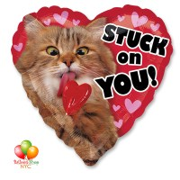 Avanti Stack On You Valentines Mylar Balloon 28 Inch Inflated Delivery in New York from Balloon Shop NYC