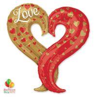 Curvy Heart Super-Shape Mylar Balloon delivery Balloon Shop NYC