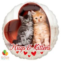 Hugs & Kittens Mylar Balloon Delivery From Balloon Shop NYC