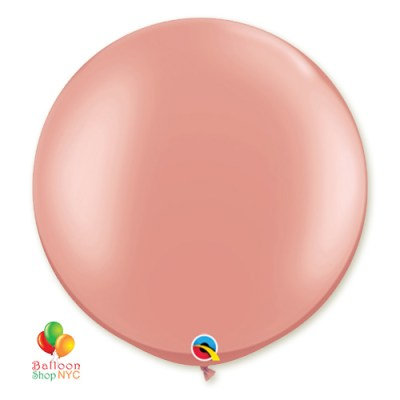 Rose Gold Latex Party Balloon 30 inch Round Inflated high-quality cheap balloons nyc delivery