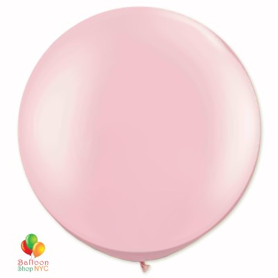 Baby Pink Latex Party Balloon 24 inch Round Inflated delivery Balloon Shop NYC
