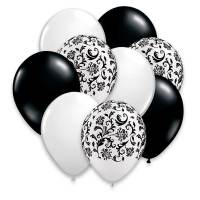 Black White and Damask Bouquet