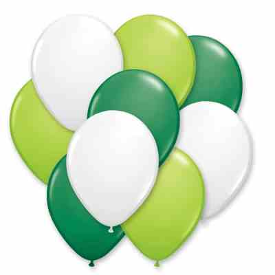 Ultimate Green Lime Latex Party Balloon Bouquet 12 inch delivery from Balloons Shop NYC
