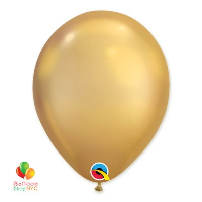 Chrome Gold Latex Party Balloon 11 inch delivery from Balloon Shop NYC