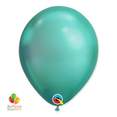 Chrome Green Latex Party Balloon 12 inch Inflated delivery from Balloon Shop NYC