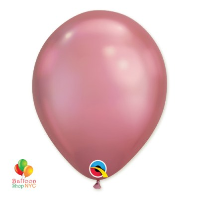 Chrome Mauve Latex Party Balloon 11 inch Inflated delivery Balloon Shop NYC