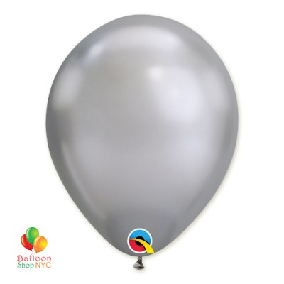 Chrome Silver Latex Party Balloon 11 inch Inflated Inflated delivery Balloon Shop NYC