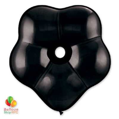 Onyx Black Geo Blossom Latex Party Balloon delivery from Balloon Shop NYC