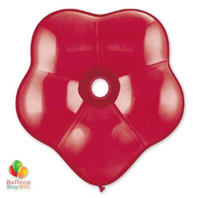 Ruby Red Geo Blossom Latex Party Balloon delivery Balloon Shop NYC
