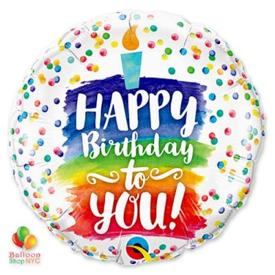 Happy Birthday Cake 18 in Mylar Balloon 57298 delivery from Balloon Shop NYC