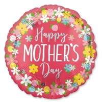 Happy Mothers Day Jumbo Mylar Balloon 28 Inch Helium Inflated Weight Attached