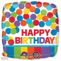 Rainbow Happy Birthday 18 inch Mylar Balloon delivery from Balloon Shop NYC