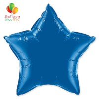 Dark Blue Star Mylar Balloon Rainbow Collection 20 inch Inflated delivery Balloon Shop NYC