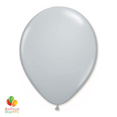 Gray Latex Party Balloon 12 Inch Inflated delivery Balloon Shop NYC