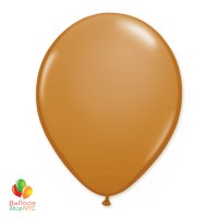 Mocha Brown Latex Party Balloon 12 Inch Inflated delivery Balloon Shop NYC