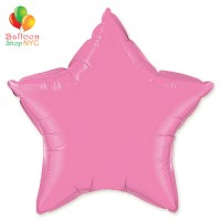 Pink Star Mylar Balloon Rainbow Collection 20 inch Inflated delivery Balloon Shop NYC