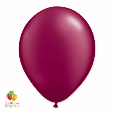 Burgundy Pearl Latex Party Balloon 12 Inch delivery Balloon Shop NYC