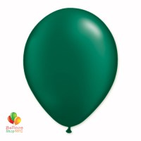 Forest Green Pearl Latex Party Balloon 12 Inch Inflated delivery Balloon Shop NYC