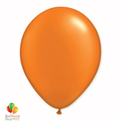 Mandarin Orange Pearl Latex Party Balloon 12 Inch Inflated delivery Balloon Shop NYC