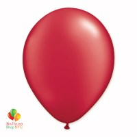 Ruby Red Pearl Latex Party Balloon 12 Inch Inflated delivery Balloon Shop NYC