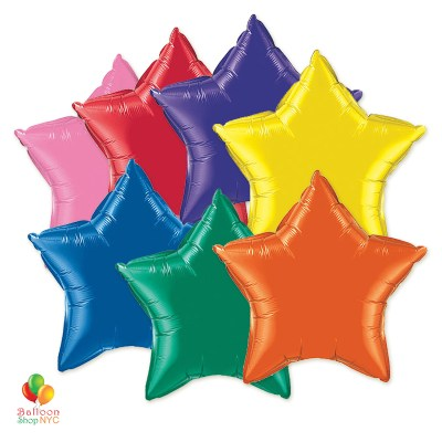 Express Order Rainbow Stars Mylar Balloons delivery Balloon Shop NYC