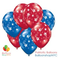 Shooting Stars Ruby Sapphire Latex Balloons 11 inch delivery from Balloon Shop NYC