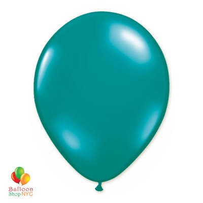 Teal Latex Party Balloon 12 Inch Inflated delivery Balloon Shop NYC