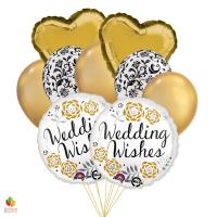 Wedding Wishes Mylar Balloon Bouquet delivery from Balloon Shop NYC