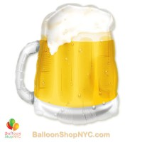 Beer Mug Jumbo See Through Fun Mylar Balloon 23 Inch Inflated high-quality cheap balloons nyc delivery
