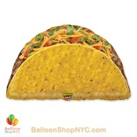 Mighty Bright Taco Jumbo Funny Mylar Balloon 32 inch Inflated high-quality cheap balloons nyc delivery