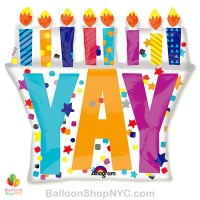 Yay Its Your Birthday Mylar Balloon 28 inch Inflated high-quality cheap balloons nyc delivery