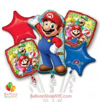 Super Mario Foil Balloons Bouquet Inflated high-quality cheap balloons nyc delivery