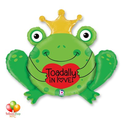Toadally In Love Valentines Day Balloon 29 Inch Inflated Delivery from Balloon Shop NYC