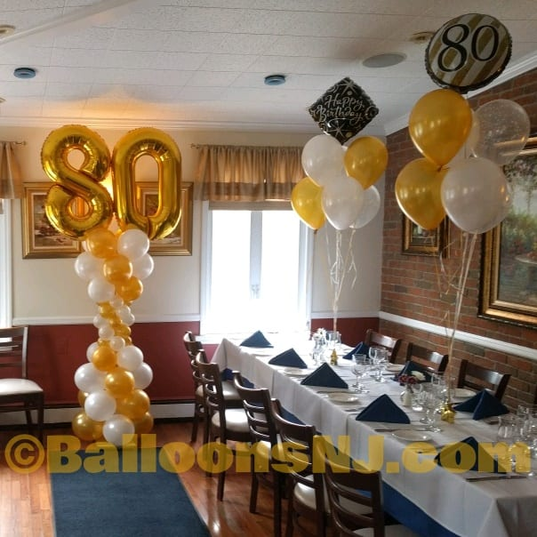 80th birthday cafe azzuro peapack for Decoration 80 birthday