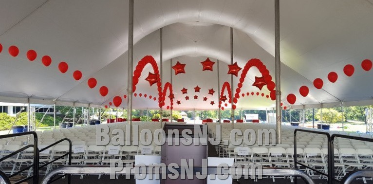 Giant Party Tent Line Arches