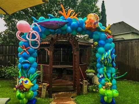 Balloon Arch under the sea