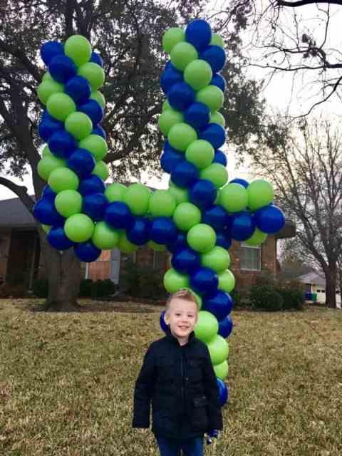 Birthday Balloon Number Four