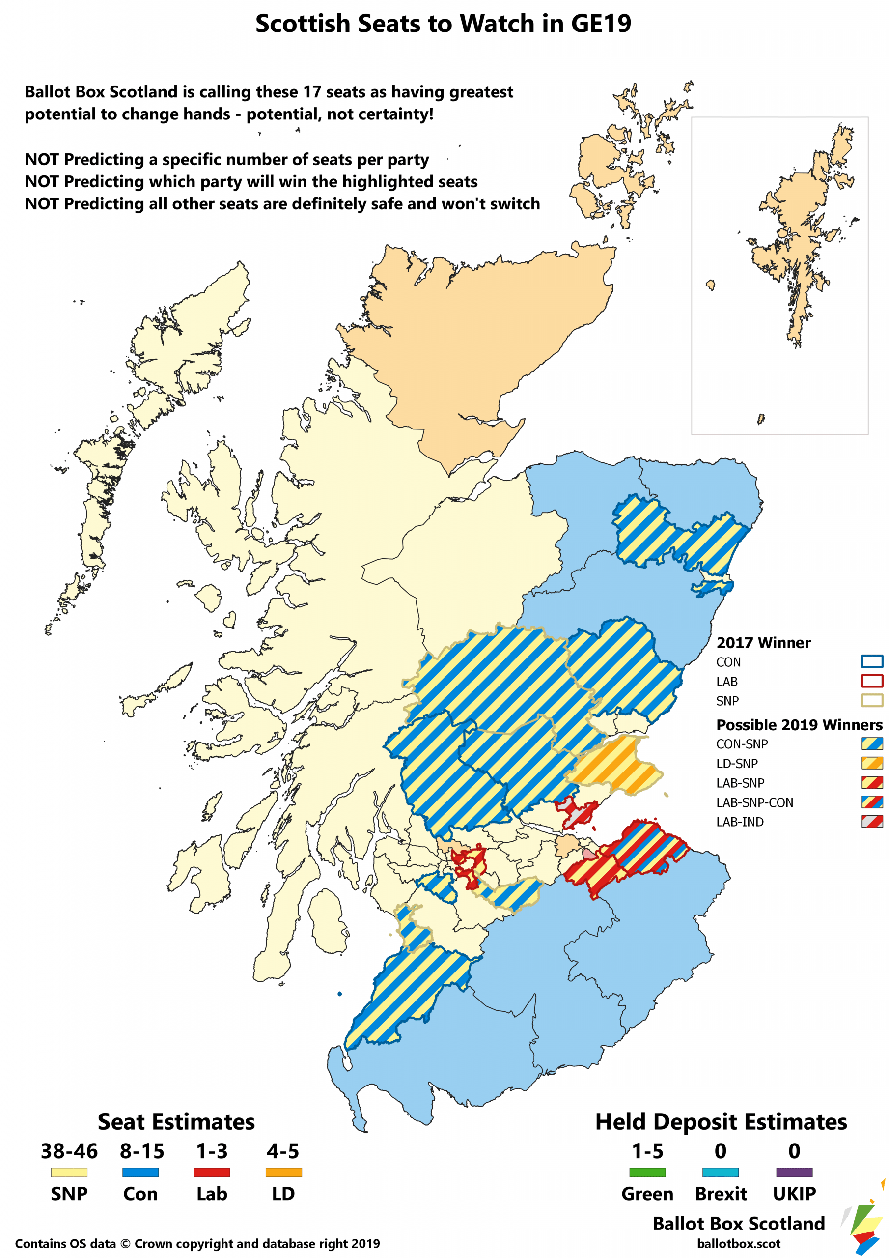 Seats in Contention Coloured Borders