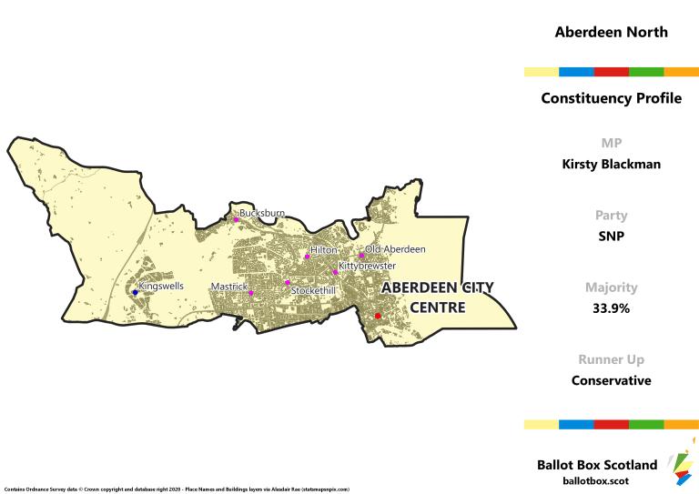 Aberdeen North Constituency Map